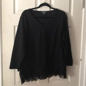 The limited black long sleeve blouse